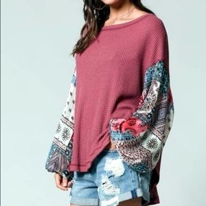 By Together Thermal w/Gypsy Puffy Sleeves